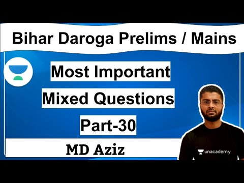 Most Important Mixed Questions for BPSC Pt and Daroga Pt || Part -30 || MD Aziz Sir