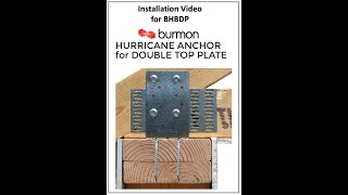 Hurricane Anchor for Double Top Plate