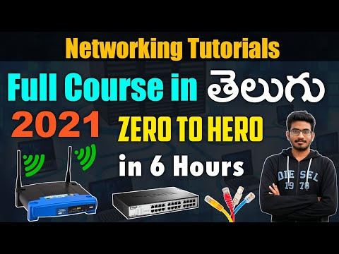 Computer Networking Full Course in One Video | Full Tutorial for Beginners to Expert [TELUGU] | 2021