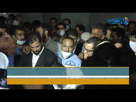 Emotional scenes at funeral of slain Srinagar lawyer Babar Qadri