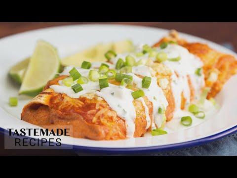 Best-Ever Buffalo Chicken Enchiladas Recipe   Tastemade