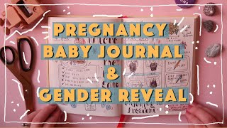 How to create a BABY JOURNAL | PREGNANCY JOURNAL idea & FLIP-THROUGH + GENDER REVEAL |SpottedJournal