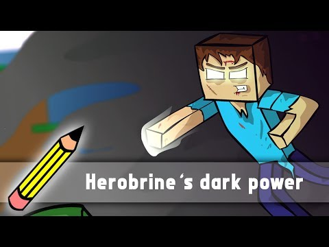 Herobrine's dark power (Drawing timelapse)