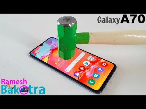 Samsung Galaxy A70 Screen Scratch Test