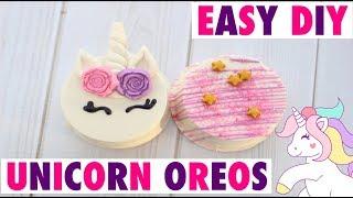 EASY DIY UNICORN OREOS| HOW TO CHOCOLATE OREOS
