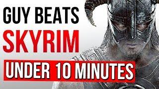 Beating Skyrim in Under 10 Minutes Speedrun - ESO Reacts