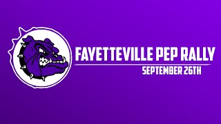 Fayetteville Pep Rally | September 26th
