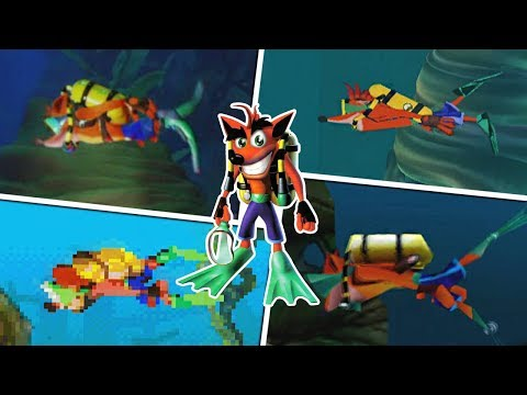 Underwater levels in Crash Bandicoot Games