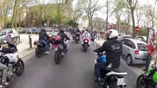 preview picture of video 'Manifestation FFMC 45 du 12/04/2014 Montargis et Orléans motards du Loiret en colère avril'