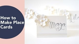 How to make place cards, Place Card Ideas, DIY Wedding or Thanksgiving