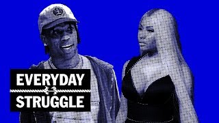Everyday Struggle - Nicki Minaj Calls Travis Scott a 'Stupid F--k', Then Drake Brings Travis on Stage