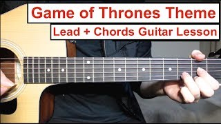 Game Of Thrones - Theme | Guitar Lesson How To Play Lead Guitar + Chords (with Tabs) Tutorial