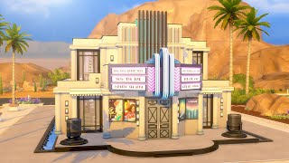 Building an Art Deco Movie Theater & Bar in The Sims 4 (Streamed 7/2/19)
