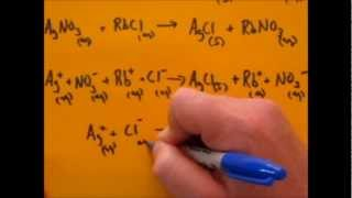 Simplified Writing Of Net Ionic, Ionic And Molecular Equation Level 1 (Given Names)