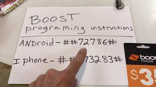 iPhone and android activation secret code boost mobile best video
