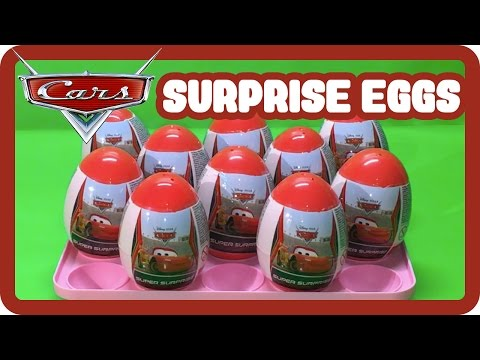 Surprise Eggs From Disney Pixar Cars - Finger Family Daddy Finger Nursery Rhymes