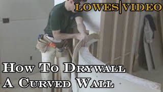 How To Drywall A Curved Wall