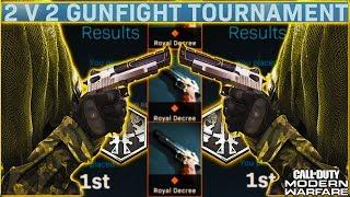 HOW TO PLAY The 2v2 gunfight TOURNAMENT in MODERN WARFARE! SECRET PISTOL UNLOCKED! 😱 (COD MW 2v2)