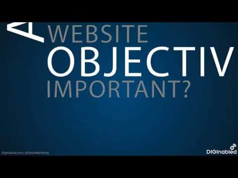 Are website objectives important