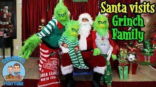 SANTA VISITS GRINCH FAMILY | DEION'S PLAYTIME
