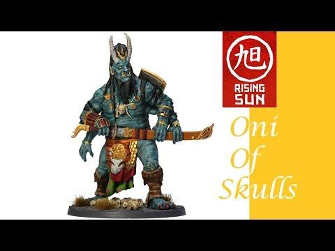 Rising Sun Painting: Oni of Skulls