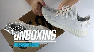 "YEEZY 350 ""Triple White"" Unboxing + Review  (1 million pairs available!?)"