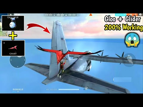 How to Jump on Aeroplane//200% working Trick🔥😱//Gloo + Glider