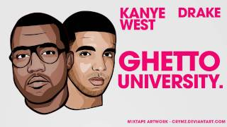 DOWNLOAD KANYE WEST FT. DRAKE - GHETTO UNIVERSITY (ALL OF THE LIGHTS) CDQ MP3