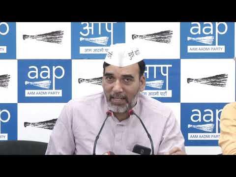 AAP Delhi Convenor Gopal Rai writes Letter to Cong President Mr Rahul Gandhi on Full Statehood
