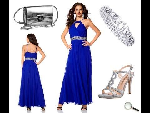 Schöne Abendkleider in blau, lang und günstig + Outfit Tipps