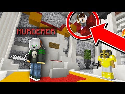 When the MURDERER gets DOUBLE camo trolled.. (Minecraft Murder Mystery)