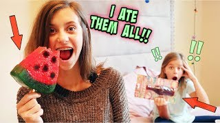 I ATE ALL OF MY SiSTER'S GiANT GuMMY CaNDY!!