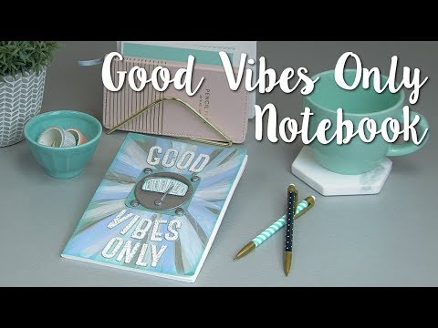 DIY Notebook Cover: Good Vibes Only