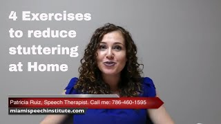 4 exercises to reduce stuttering at home