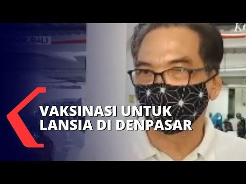 Lansia di Denpasar Divaksin Covid-19 di RS Bhayangkara
