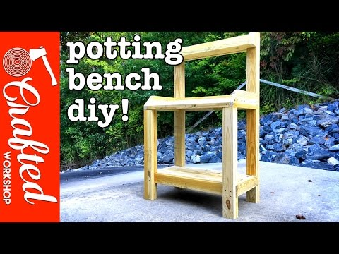 DIY Garden Potting Bench | How To Build – Simple Woodworking Project!