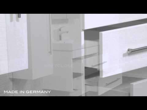 Badmöbel Mega-Spar-Set Limes XL weiss hochglanz