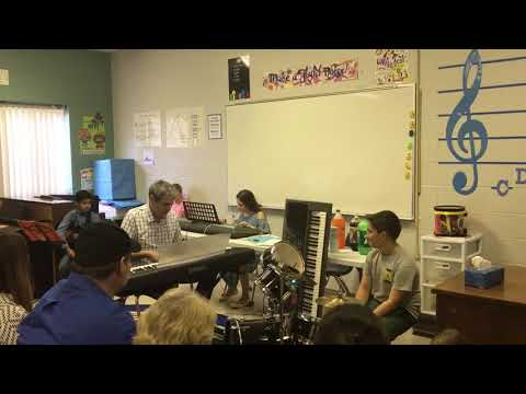 Duet with Emily at an after-school performance