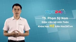 Khóa H2 - Luyện thi THPT QG môn Toán | HOC247