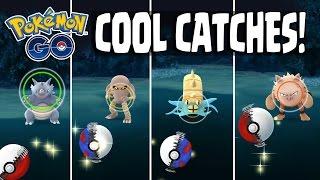 Hitmonlee  - (Pokémon) - Pokemon GO | COOL RARE POKEMON CATCHES!! Hitmonlee, Omastar & MORE! Rare Pokemon Catching Spree!