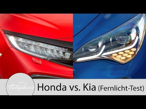 Honda Civic LED-Scheinwerfer vs. Kia Stinger LED-Scheinwerfer Pro und Contra [4K] - Autophorie