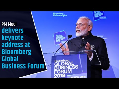 PM Modi delivers keynote address at Bloomberg Global Business Forum