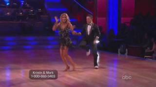 Kristin Cavallari and Mark Ballas Dancing with the Stars cha cha
