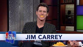 Jim Carrey's Paintings Reflect the Reality Of American Politics. And Mangoes. Lots Of Mangoes. thumbnail