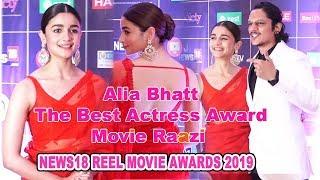 The Best Actress Award To Alia Bhatt  For The Movie Raazi - News18 Reel Movie Awards-2019