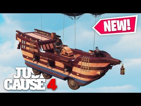 Just Cause 4 - NEW GALLEON BATTLESHIP CHAOS!