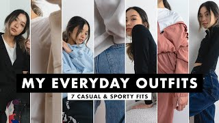 My Everyday Outfits | 7 Casual & Sporty Fits