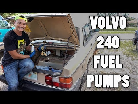 How To Replace 1986 Volvo 240 In-Tank and Main Fuel Pumps