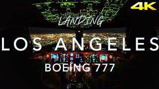 LOS ANGELES | BOEING 777 LANDING 4K