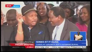 Friday Briefing: Senator Mike Sonko insults mourners at Wavinya Ndeti's husbands burial
